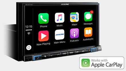 Works with Apple CarPlay - INE-W710DC