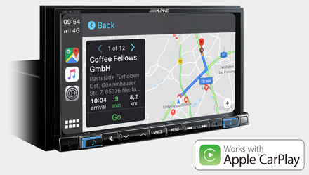 Online Navigation with Apple CarPlay - INE-W720D