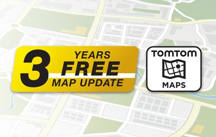TomTom Maps with 3 Years Free-of-charge updates - X803D-U