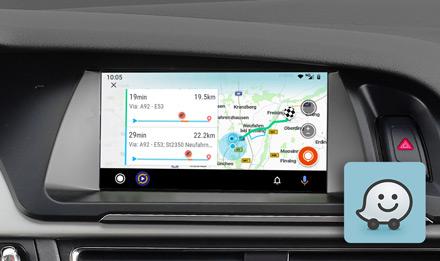 Audi A4 - Online Navigation with Waze - X703D-A4