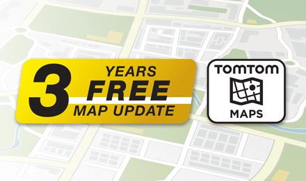 TomTom Maps with 3 Years Free-of-charge updates - X703D-A4