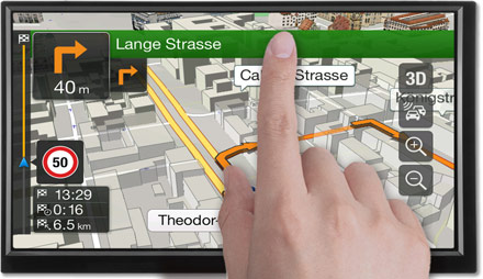 3D Maps - Freestyle Navigation System X701D-F