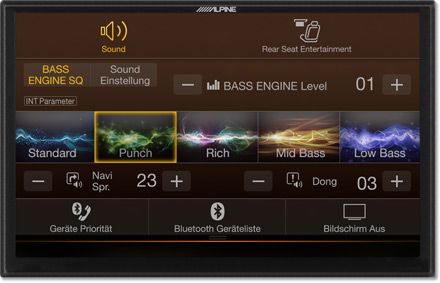 Bas Motoru SQ Ses ayarlama - Navigasyon Sistemi X902D-F