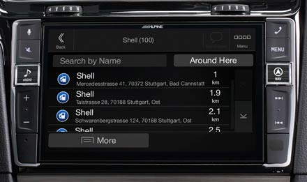 Golf 7 - Navigation - Points of Interest  - X902D-G7
