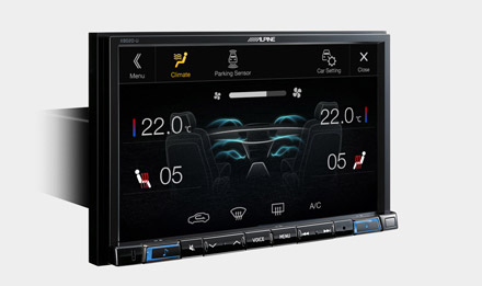 The Interface APF-X300VW retains visual representation of Air Condition Display